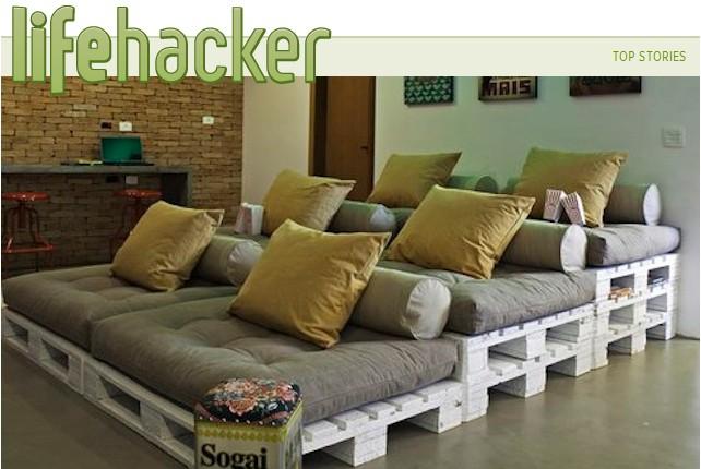 27 idee per costruire mobili riciclando il pallet share for Arredare casa riciclando