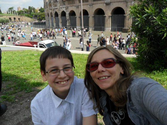 Luca e Titti al Colosseo