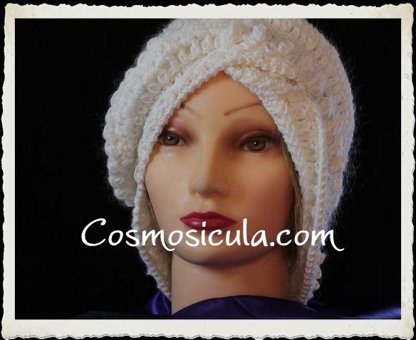 Cappello da donna in lana bianca