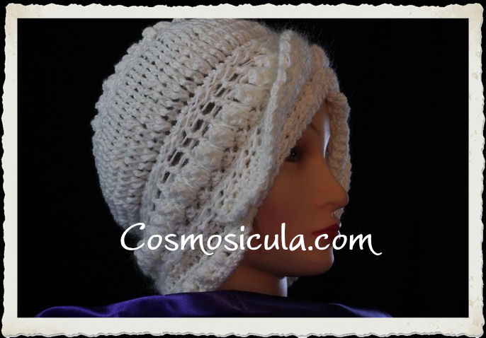 """Cappello """"Snow"""" in lana bianca"""