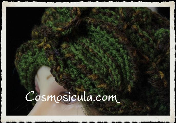 """Cappello """"Autumn Leaves"""" particolare della foglia"""